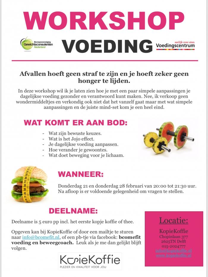 Workshop over voeding.